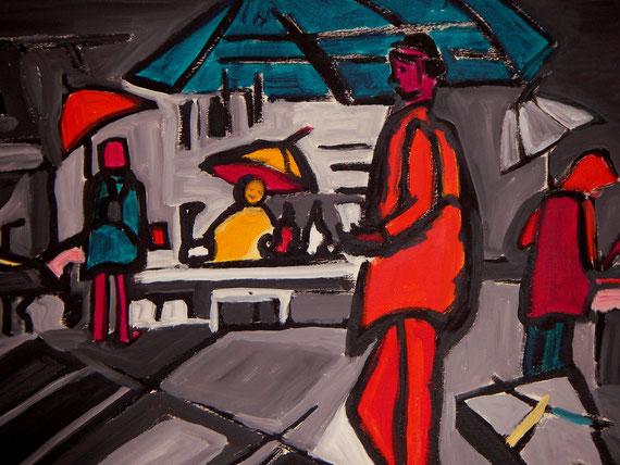"""""""Kroatien"""", 2004, Acryl, 50 x 60 cm"""