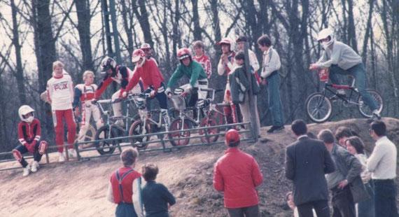 Anfang der 80er auf der BMX Bahn in Grevenbroich