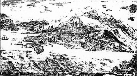 Gravure due à Louis Triquéra (Moniteur Impérial de la Nouvelle-Calédonie du 27 novembre 1859).