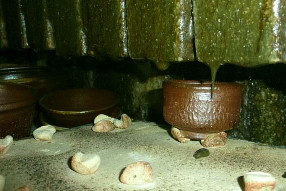 武州熊谷ひみこ窯 自然釉 炎のつらら