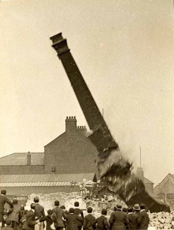 Duke Street Mill being destroyed