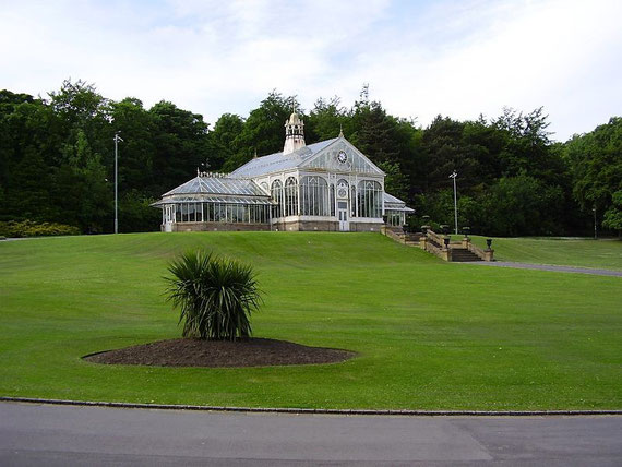Corporation Park's conservatory, which dates from 1900