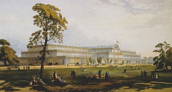 The Crystal Palace from Dickinson's Comprehensive Pictures of the Great Exhibition, published 1854 / Quelle: Wikimedia Commons