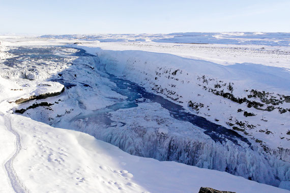 Gullfoss waterfalls cascate Islanda Circolo d'oro
