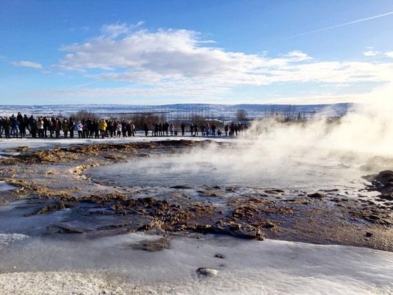 valle geotermale dei Geyser Strukkur Geysir circolo d'oro Islanda