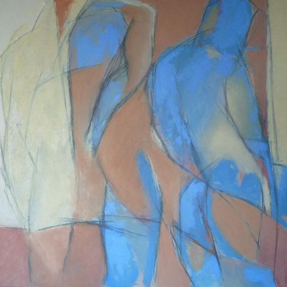 Le Monet de Tapiès / Huile sur toile 100 x 100