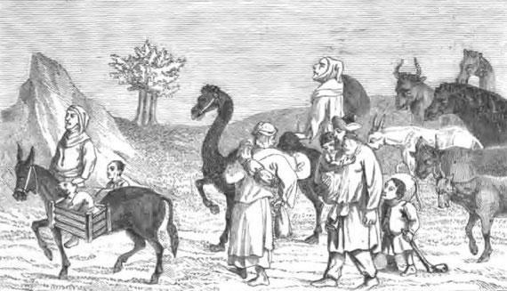 Comment le miniaturiste du Livre des Merveilles représente des Tartares en voyage