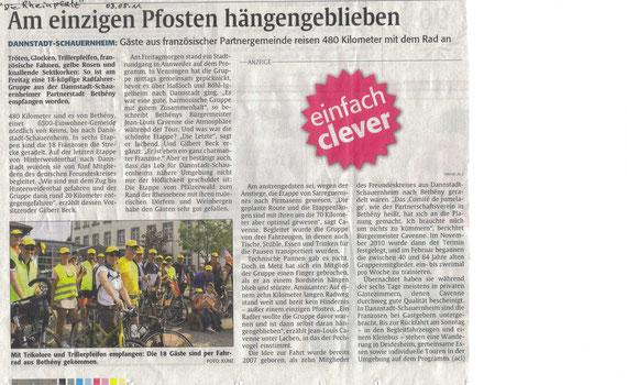 """Publié dans """"Die Rheinpfalz"""", le 03/05/11"""