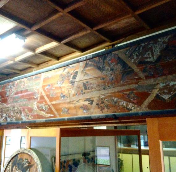 十社大神 宝物殿にある「源平合戦之図」 5メートル級の大絵馬額