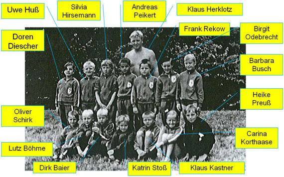 Die Trainingsgruppe um Klaus Herklotz Jahrgang 1962