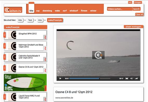Ozone C4 2012 Test bei Gleiten.tv