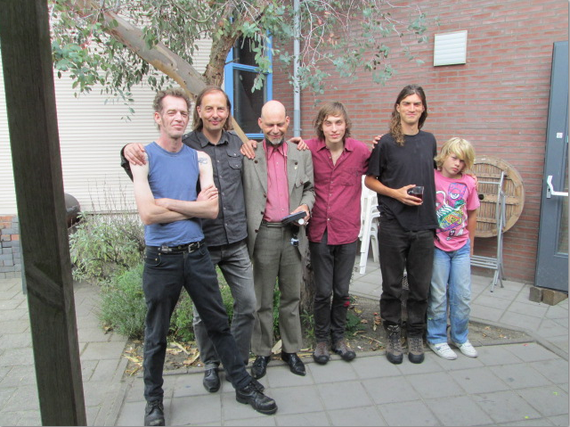 day after the show in Terneuzen 2012 (Leo, Dieter, Inox, Adrian, french hitchhiker and local kid
