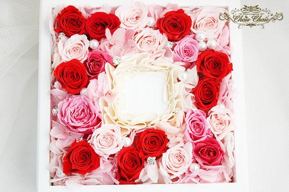 プロポーズ ジュエリーボックス ウェスティンホテル リングホルダー  リングケース  薔薇 刻印 メッセージ オーダーフラワー  シュシュ chouchou