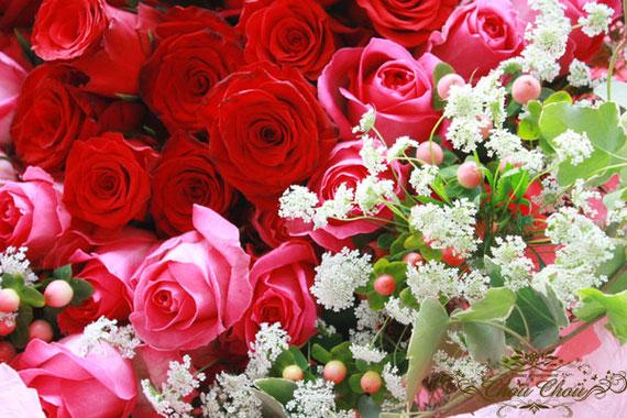 プロポーズ 花束 薔薇  ハート