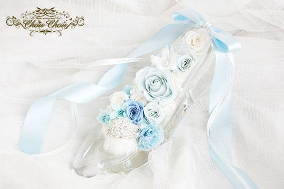 ディズニー プロポーズ ミラコスタ シンデレラ ガラスの靴 プリザーブドフラワー オーダーフラワー  シュシュ chouchou