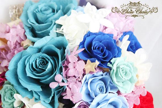 ディズニー プロポーズ セレブレーションホテル アラジン ジャスミン プリザーブドフラワー 花束