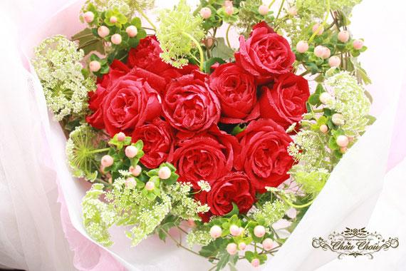 プロポーズ ハートの花束 薔薇 ディズニー