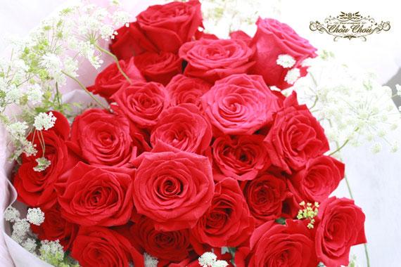 プロポーズ 花束 赤バラ ミラコスタ ハート