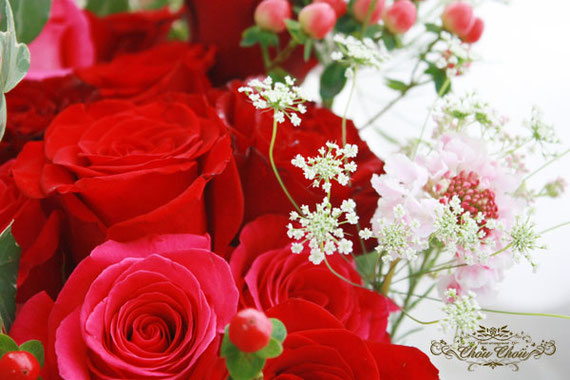 プロポーズ 花束 ディズニー ミラコスタ オーダーフラワー 薔薇