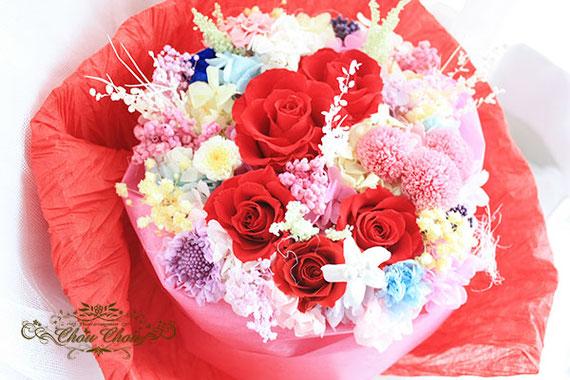 ディズニー プロポーズ ミラコスタ 隠れミッキー 35周年 プリザーブドフラワーの花束 オーダーフラワー  シュシュ chouchou