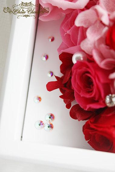ジュエリーボックス プレゼント スワロフスキー プリザーブドフラワー 薔薇 ミニー オーダーフラワー  シュシュ chouchou