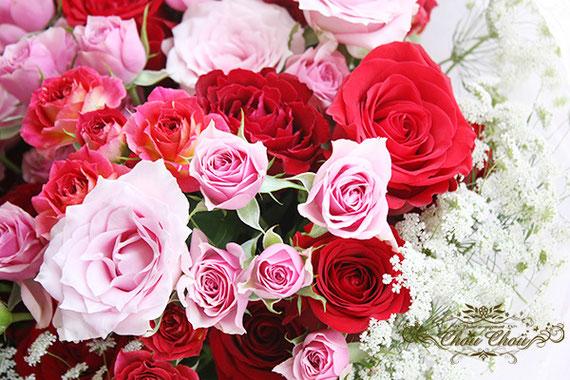 ディズニー プロポーズ 108輪の薔薇 花束 ミラコスタ オーダーフラワー シュシュchouchou 舞浜花屋