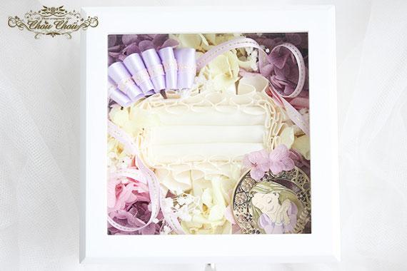 ウェディング 結婚式 ラプンツェル リングホルダー  リングピロー 二次会 プレゼント ジュエリーボックス プリザーブドフラワー オーダーフラワー  シュシュ chouchou