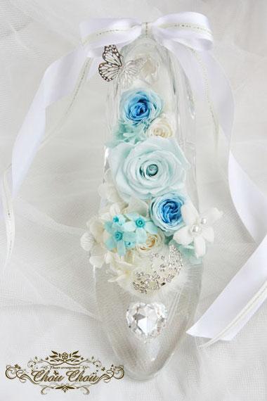 ガラスの靴 ディズニー プロポーズ プリザーブドフラワー ティアラ ハート