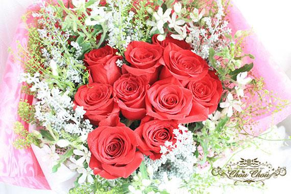 プロポーズ 花束 ディズニーランドホテル 配達 赤バラ オーダーフラワー  シュシュ chouchou