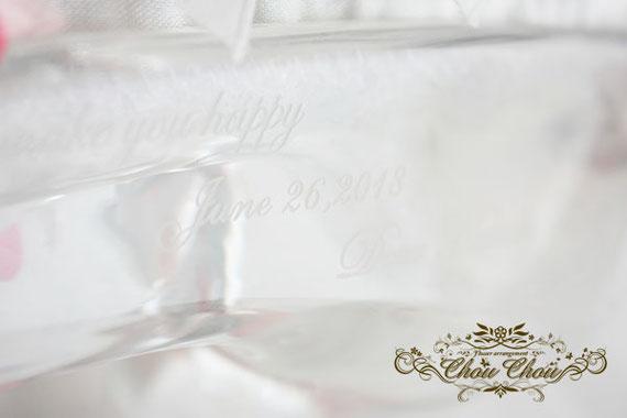 サプライズ プレゼント ガラスの靴 プリザーブドフラワー ディズニーランドホテル オーダーフラワー  シュシュ chouchou