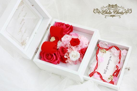ディズニープロポーズ プレゼント ミニー ジュエリーボックス 薔薇 プリザーブドフラワー 花屋