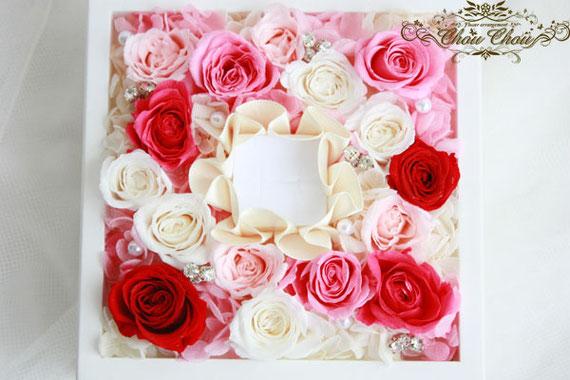 プロポーズ 薔薇 プリザーブドフラワー ジュエリーボックス リングホルダー ウェディング