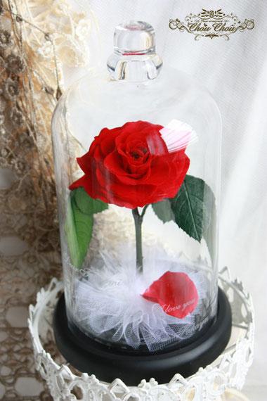 美女と野獣の一輪の薔薇 ガラスドーム プロポーズ ディズニーランドホテル