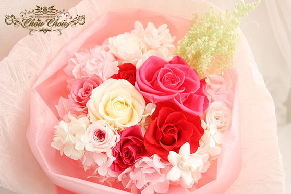 ディズニー プロポーズ ミラコスタ プリザーブドフラワー 花束 バラ オーダーフラワー  シュシュ chouchou