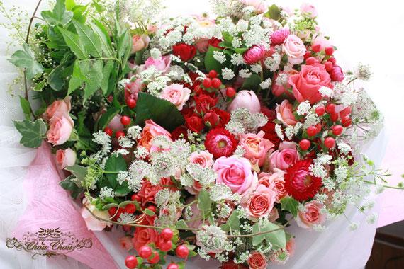 プロポーズ 花束 薔薇 ディズニー ミラコスタ ピンク 豪華