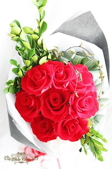 トン トウキョウベイ 花束 プリザーブドフラワー 薔薇 オーダーフラワー シュシュ chouchou 舞浜花屋