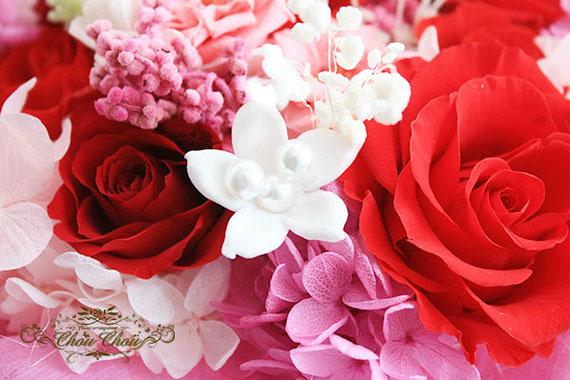 ディズニー プロポーズ ミラコスタ プリザーブドフラワーの花束 配達 オーダーフラワー  シュシュ chouchou
