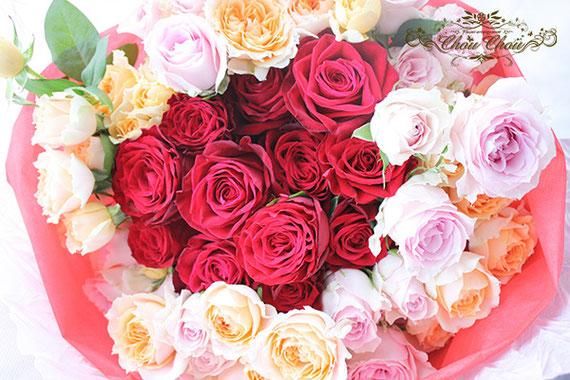 プロポーズ ディズニーランドホテル 12本の薔薇 ダズンローズ 花束 配達 オーダーフラワー シュシュ chouchou