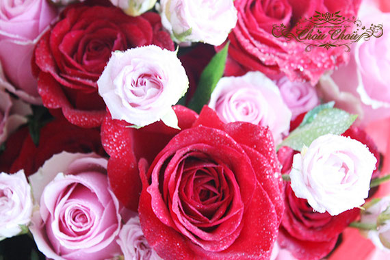 ディズニー プロポーズ ディズニーランドホテル 薔薇 花束 配達 オーダーフラワ シュシュ chouchou 舞浜花屋