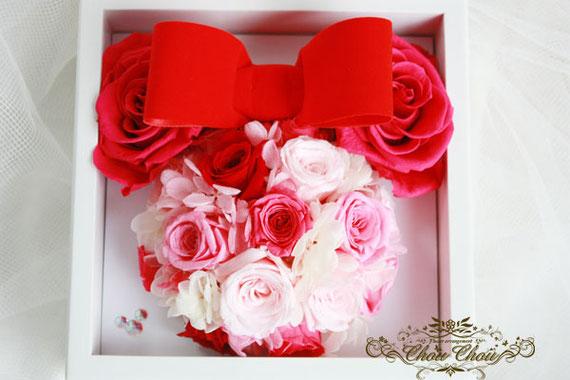 プロポーズ ディズニー ミラコスタ ミニー ジュエリーボックス リングホルダー 薔薇 プリザーブドフラワー