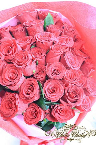 ディズニー プロポーズ 赤薔薇 花束 ミラコスタ 配達 オーダーフラワー  シュシュ chouchou