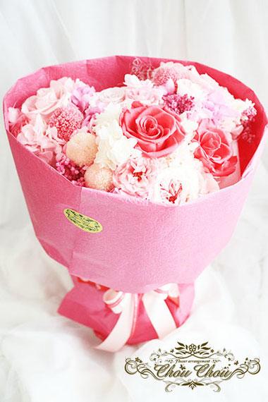 プロポーズ ミッキー プリザーブドフラワー 花束 薔薇 ANAクラウンプラザホテル オーダーフラワー  シュシュ
