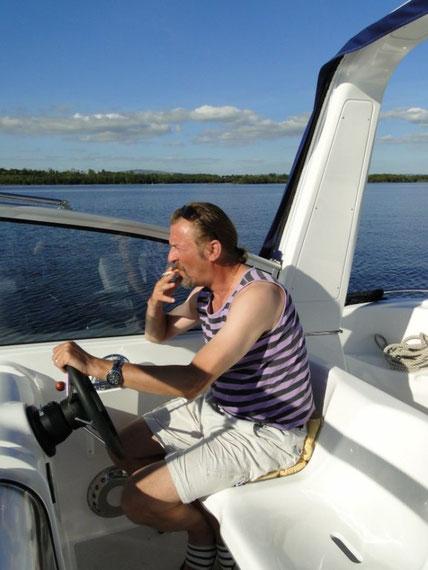 Kapitän beim Lungentraining
