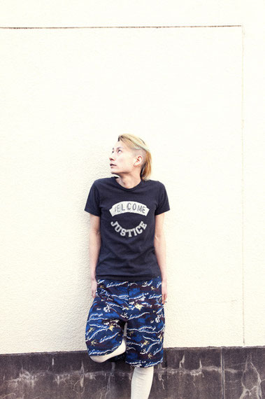 "/i T-SHIRT ""WELCOME JUSTICE / SEAWEED CAMO HALF BIG PANT"