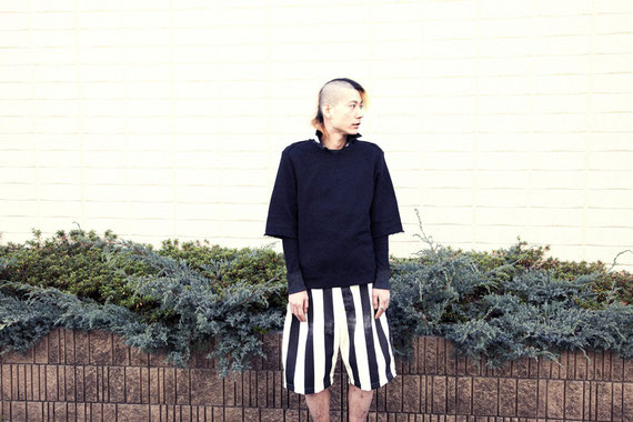 /j BOATNECK SWEATSHIRT / DOT SHIRT / STRIPE HALF BIG PANT