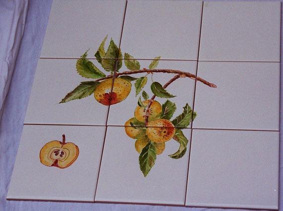 pommes - dim. 45 cmx30 cm epais. 4 mm - 80 €