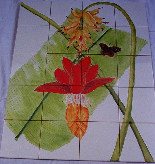fleur de bananier - dim. 60 cmx75 cm epais. 4 mm - 150 €