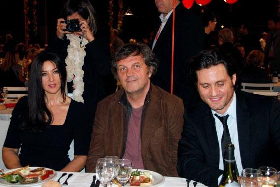 Monica BELLUCCI,  Emir KUSTURICA  et Edgar RAMIREZ - Festival Lumière 2012  © Anik COUBLE