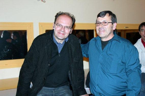 Jean-Pierre AMERIS  et Jean-Claude FRENETTE - Festival du film rhônalpin 2011 © Anik COUBLE
