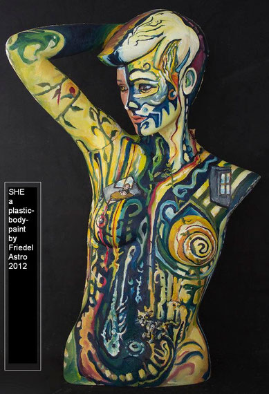 """She"" a "" bodypaint"" on plastic"